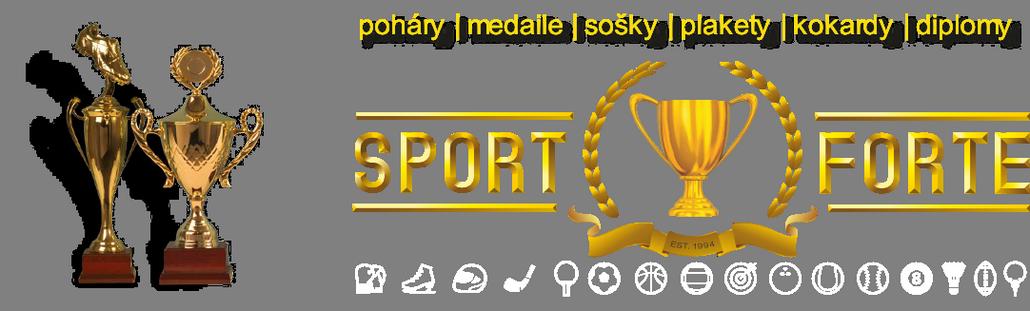 Poháry,  medaile, sportovní ceny  SportForte
